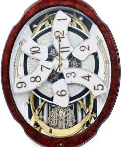 Rhythm-Woodgrain-Marvelous-4MH412WU23-Musical-Motion-Wall-Clock-2
