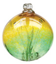 Witch ball gold green