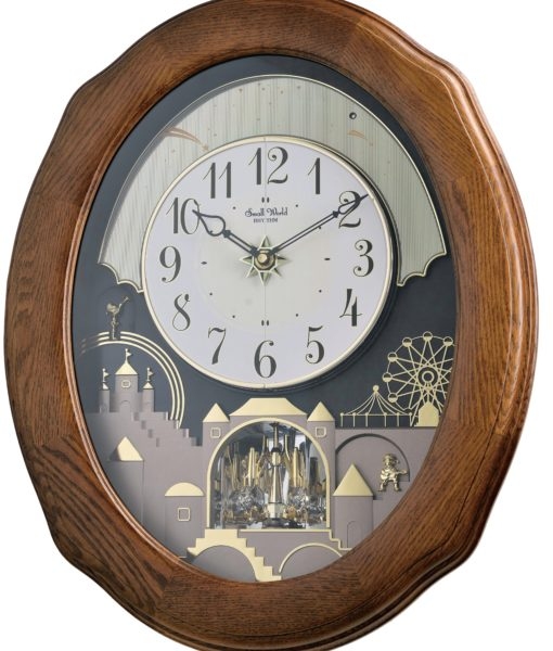 Rhythm-Joyful-Timecracker-Oak-4MH419WU06-Magic-Motion-Musical-Wall-Clock-1