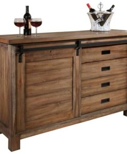 Howard Miller 695-144 Homestead Wine and Bar Cabinet